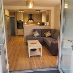 open plan lounge / kitchen from conservatory, student house, Kenilworth,